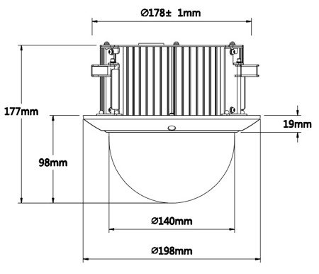 KAMERA AHD, HD-CVI, HD-TVI, PAL SZYBKOOBROTOWA WEWNĘTRZNA DH-SD52C430I-HC - 4.0Mpx 4.5... 135mm DAHUA