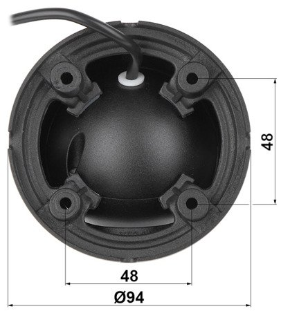 KAMERA IP DH-IPC-HDW1230SP-02 80B-BLACK - 1080p 2.8mm DAHUA