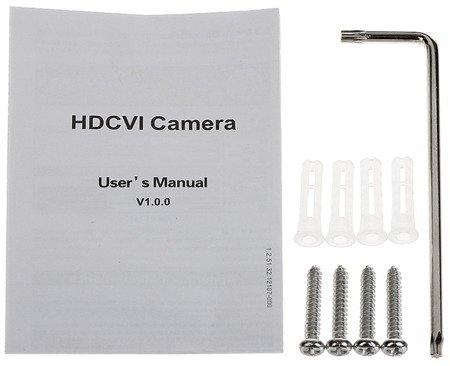 KAMERA WANDALOODPORNA AHD, HD-CVI, HD-TVI, PAL DH-HAC-HDBW2231FP-02 80B - 1080p 2.8mm DAHUA
