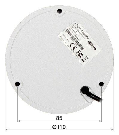 KAMERA WANDALOODPORNA HD-CVI, PAL DH-HAC-HDBW2221EP-02 80B - 1080p 2.8mm DAHUA