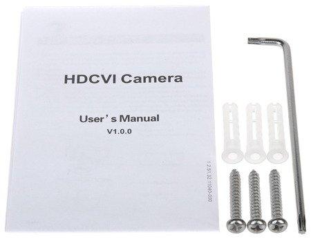 KAMERA WANDALOODPORNA HD-CVI, PAL DH-HAC-HDBW2401EP-03 60B - 3.7Mpx 3.6mm DAHUA