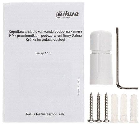KAMERA WANDALOODPORNA IP DH-IPC-HDBW1230EP-02 80B - 1080p 2.8mm DAHUA