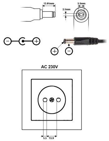 ZASILACZ 12V/4A/5.5